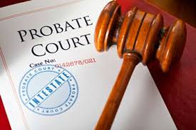 Probate Court Filing and Judge's Gavel